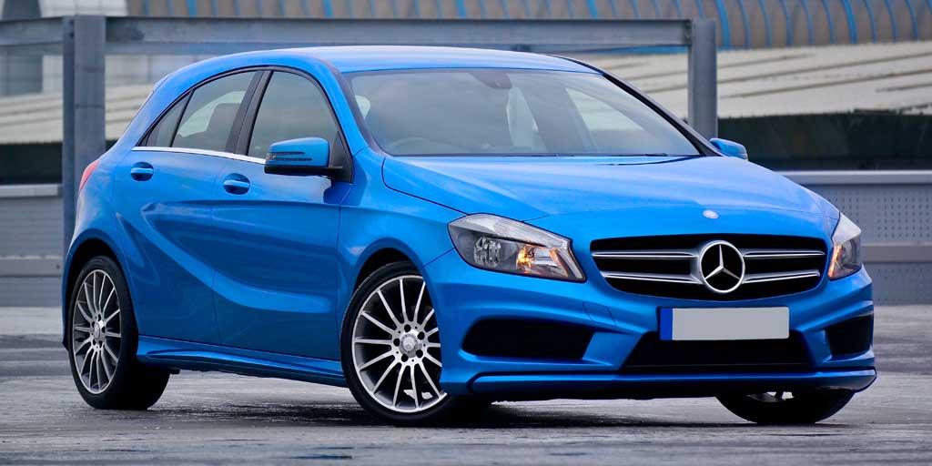 Mercedes clase A azul de segunda mano