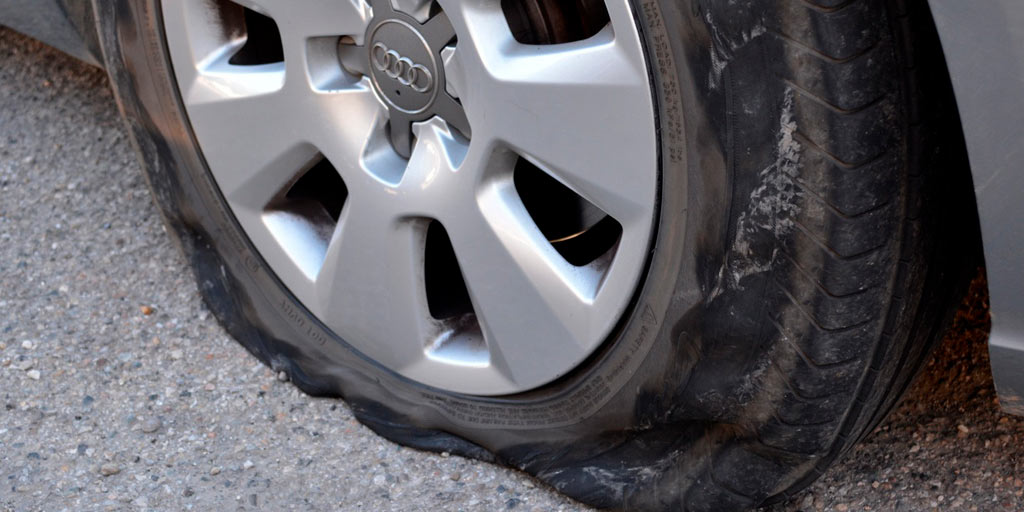 pinchazo de neumático